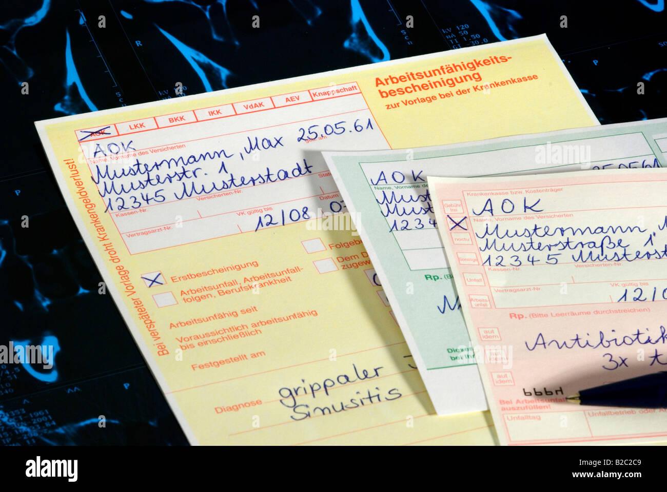 Certificate Of Disability Prescription Symbolic Picture Stock