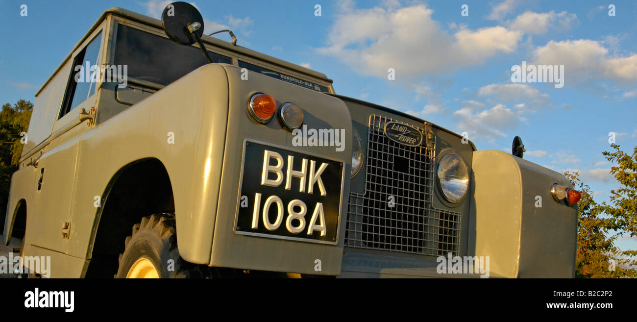 Historic 1963 Landrover Series 2a hardtop in very original and full working condition on a farm in Dunsfold, UK - Stock Image