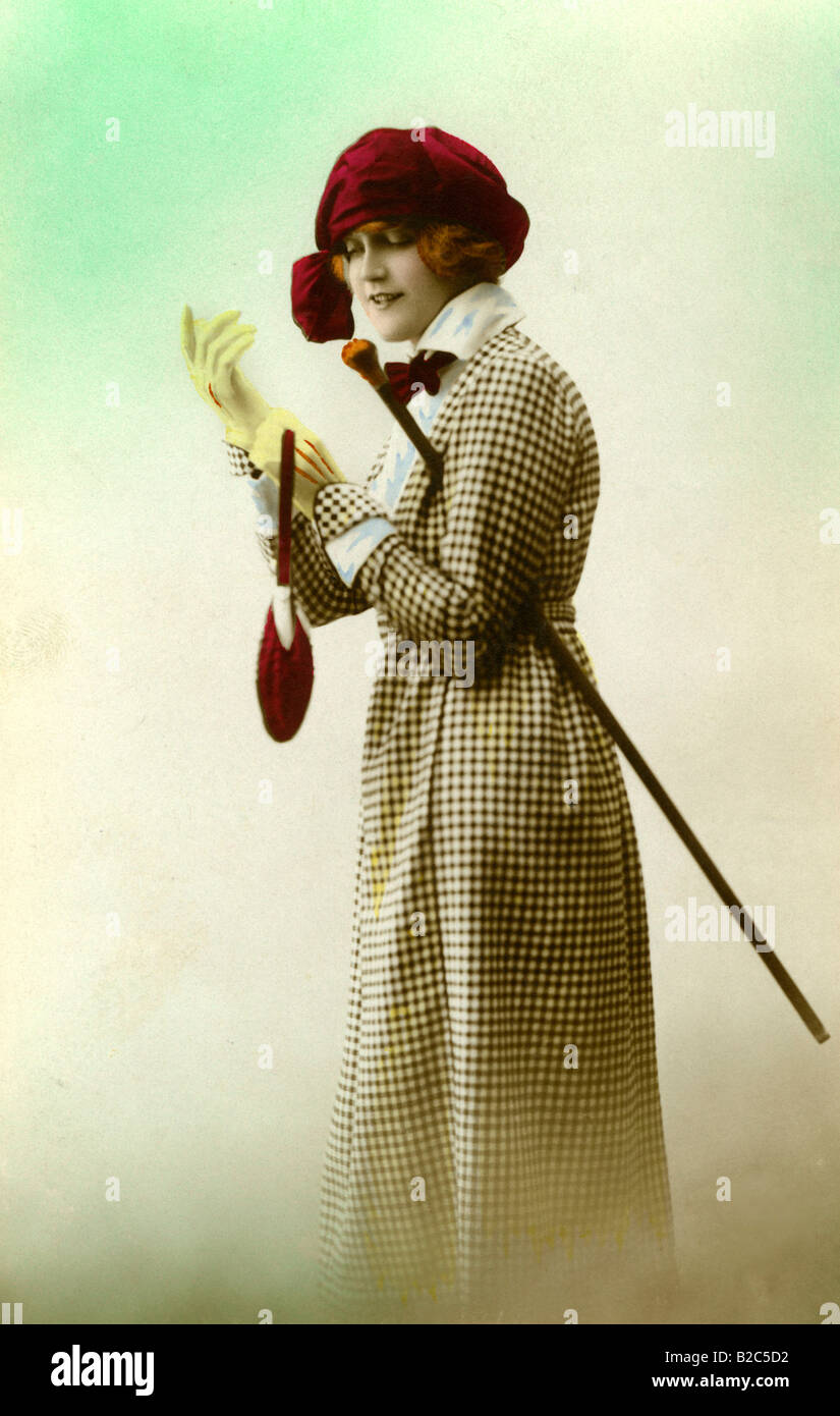 Historic fashion photography from about 1920 - Stock Image