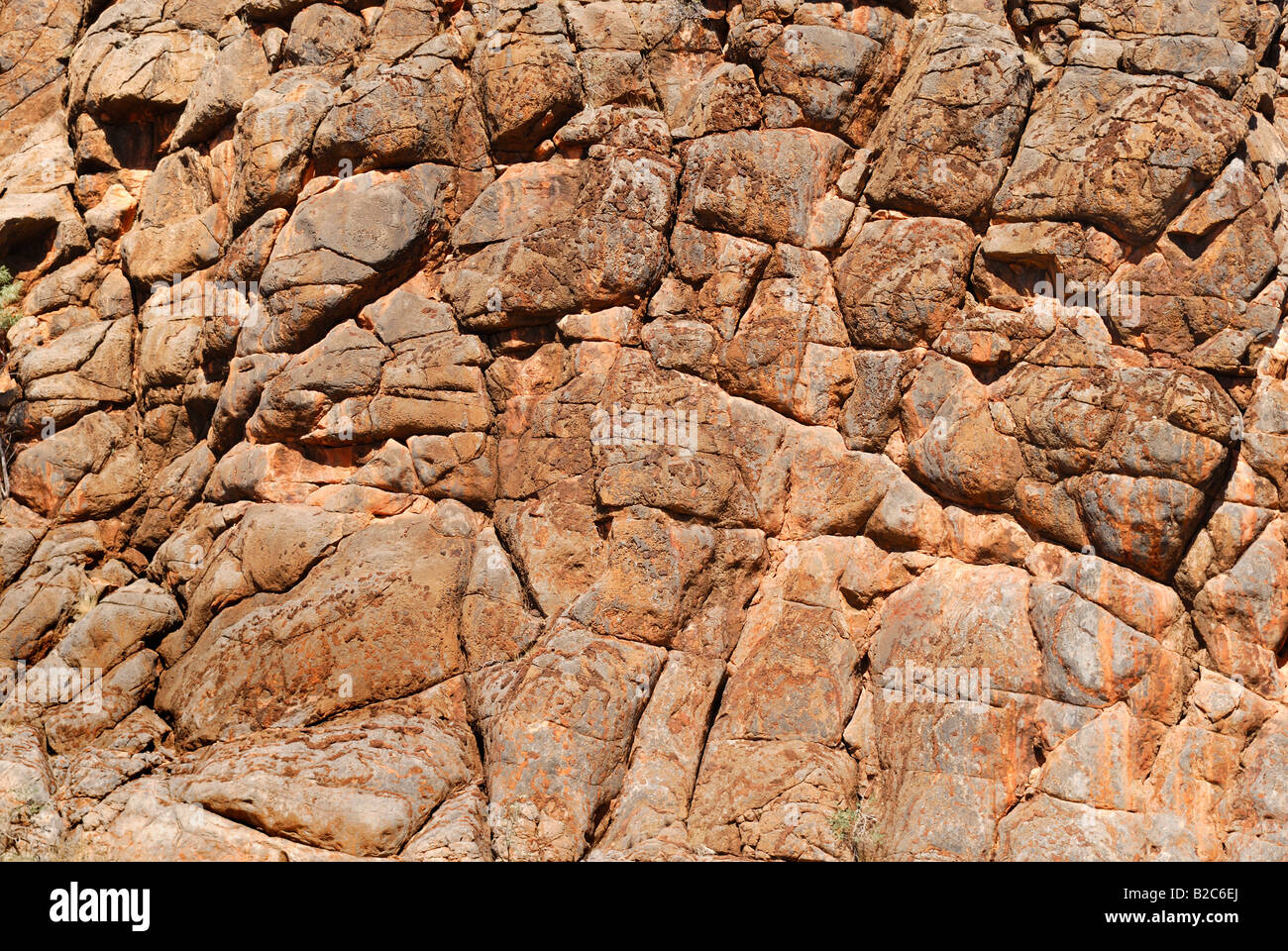 Surface structure of Corroboree Rock, East Macdonnell Ranges, Australia - Stock Image