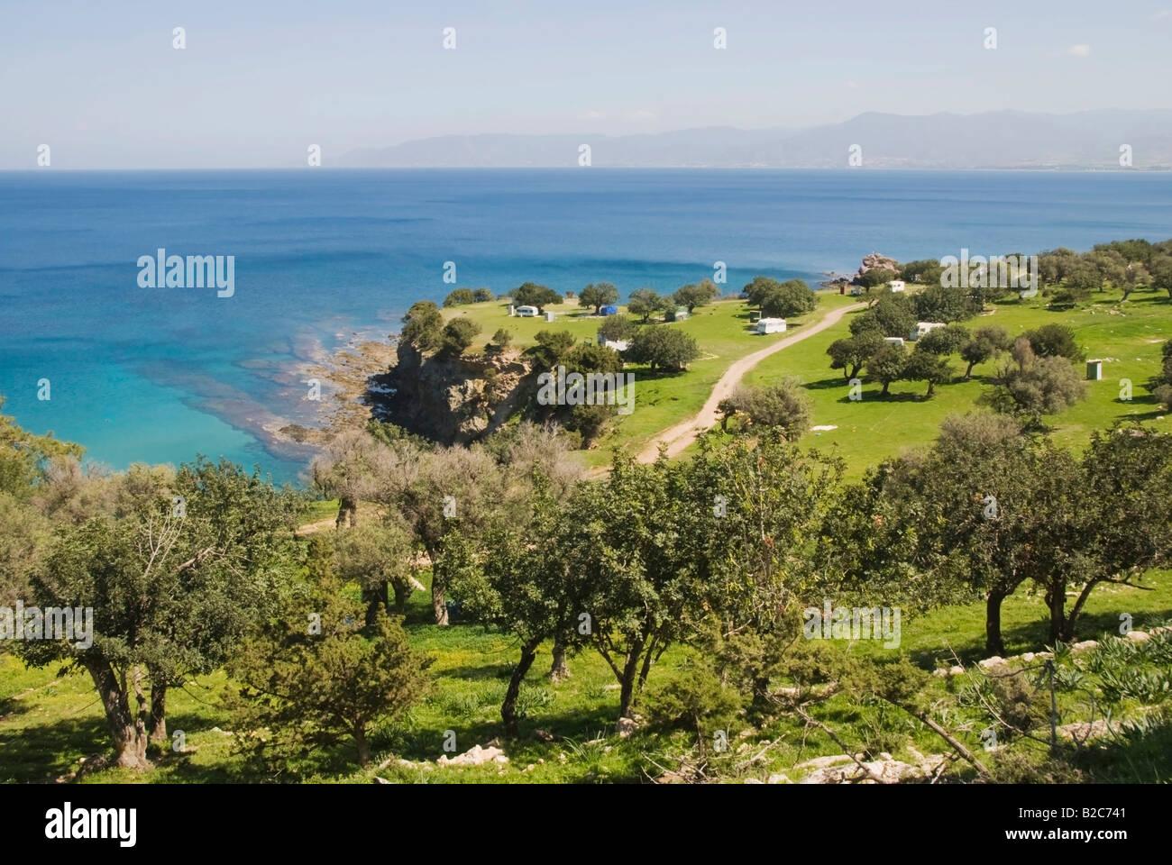 Bay, Aphrodites Pool, Cyprus - Stock Image