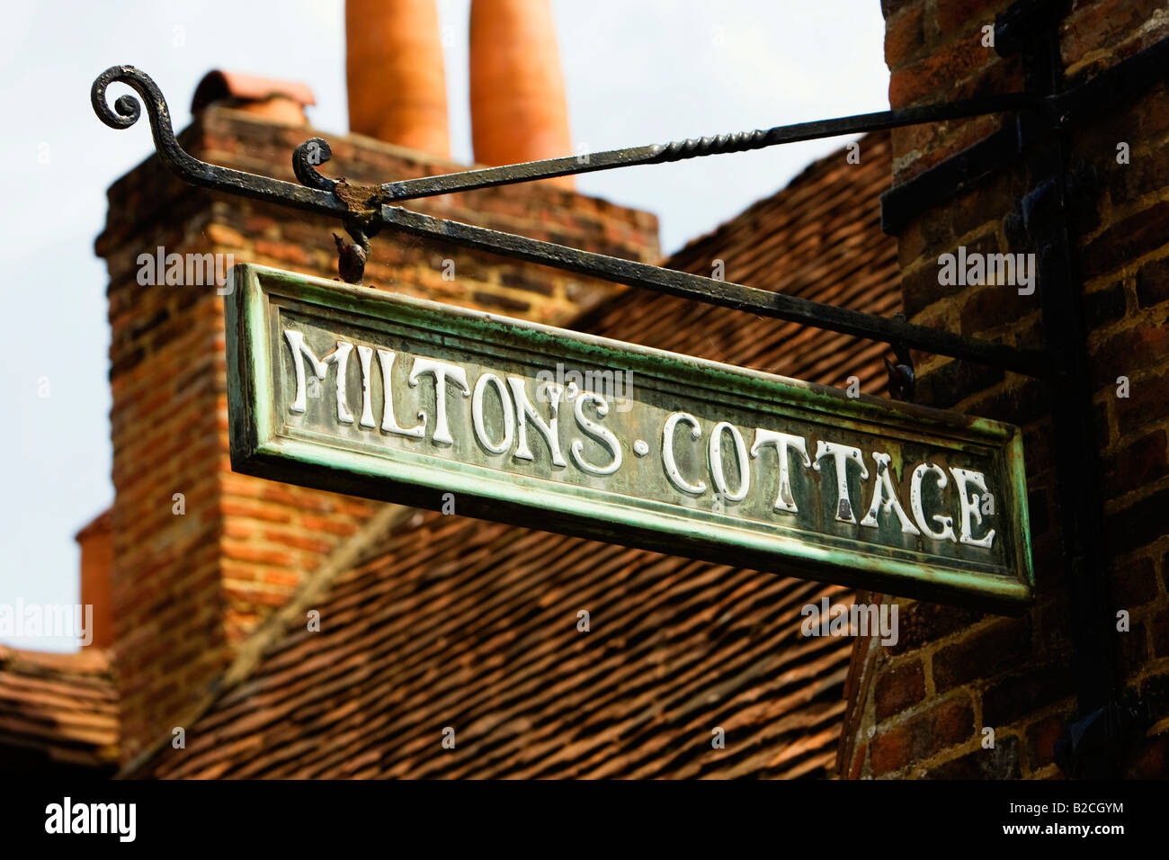 Milton s Cottage in the Buckinghamshire village of Chalfont St Giles England UK - Stock Image
