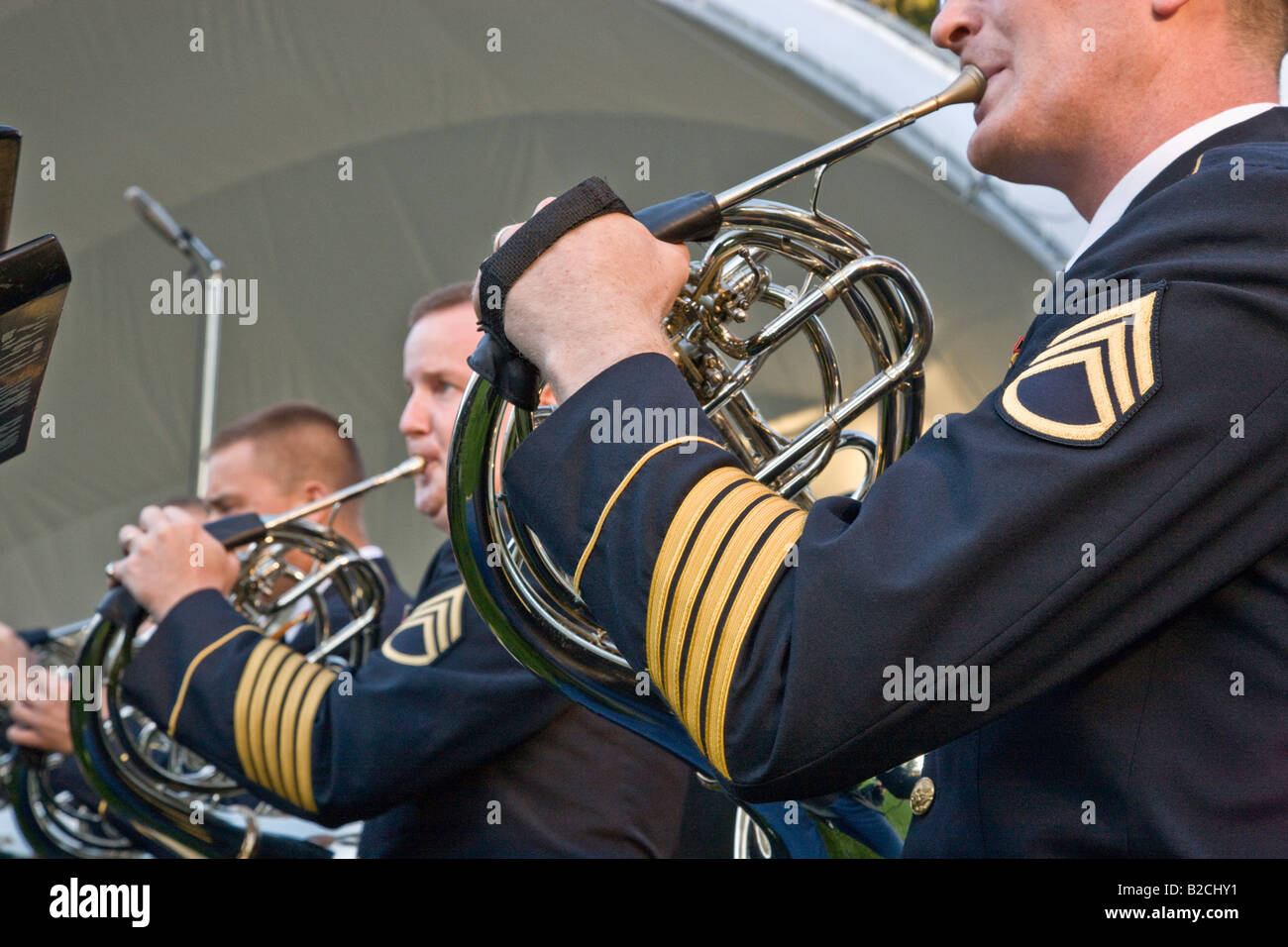 Oregon Army National Guard Band. - Stock Image