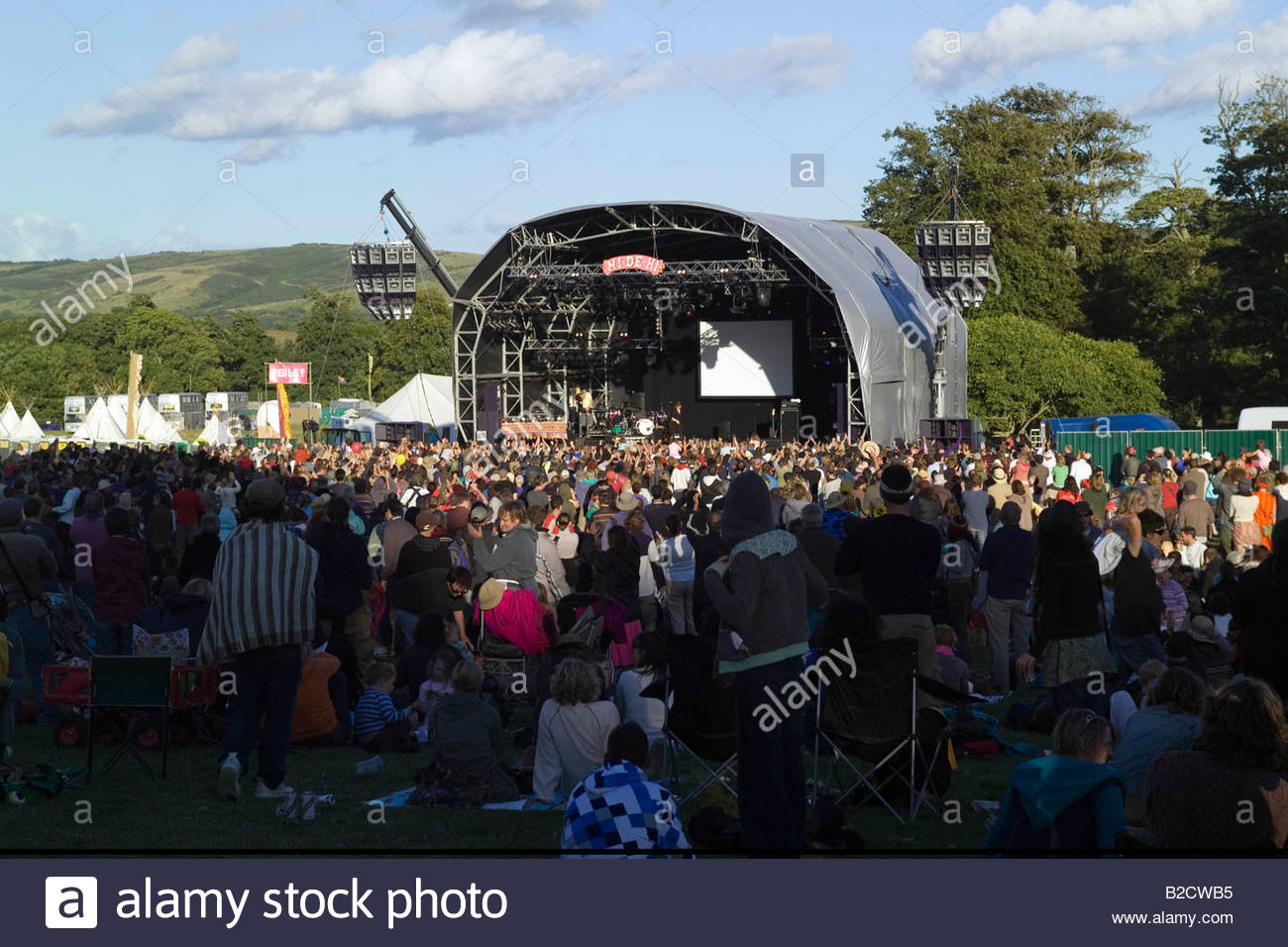Camp Bestival Music Festival July 2008 Lulworth Estate Dorset England - Stock Image