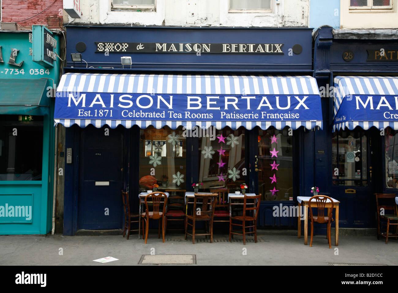 Maison Bertaux patisserie on Greek Street, Soho, London - Stock Image