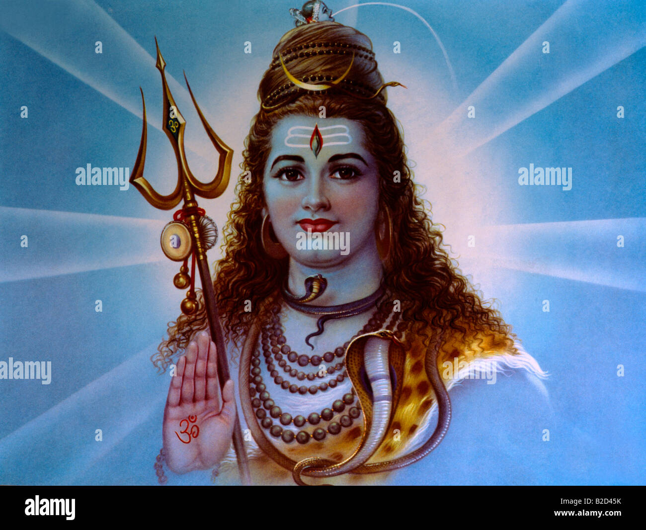 Shiva - Hindu God - Stock Image