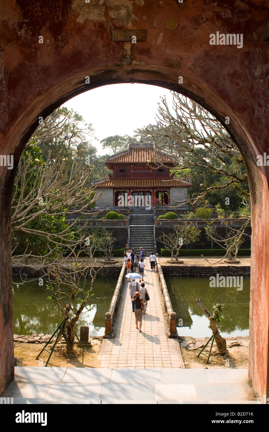 A gate at the tomb of Minh Mang in Hue, Vietnam Stock Photo ...