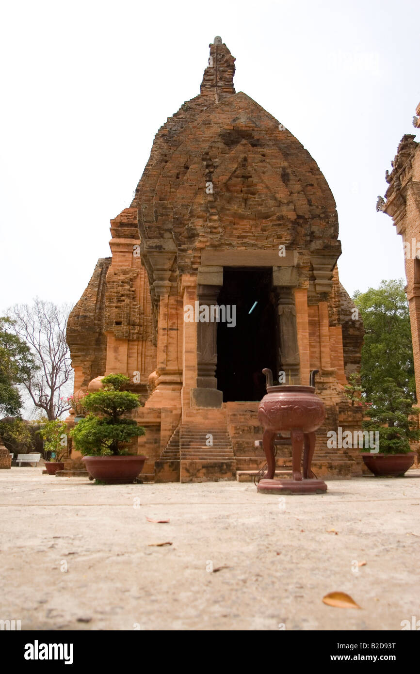 One of the Po Nagar Towers at Nha Trang in Vietnam. The Po Nagar Towers are ancient temples dating back to the Champa - Stock Image