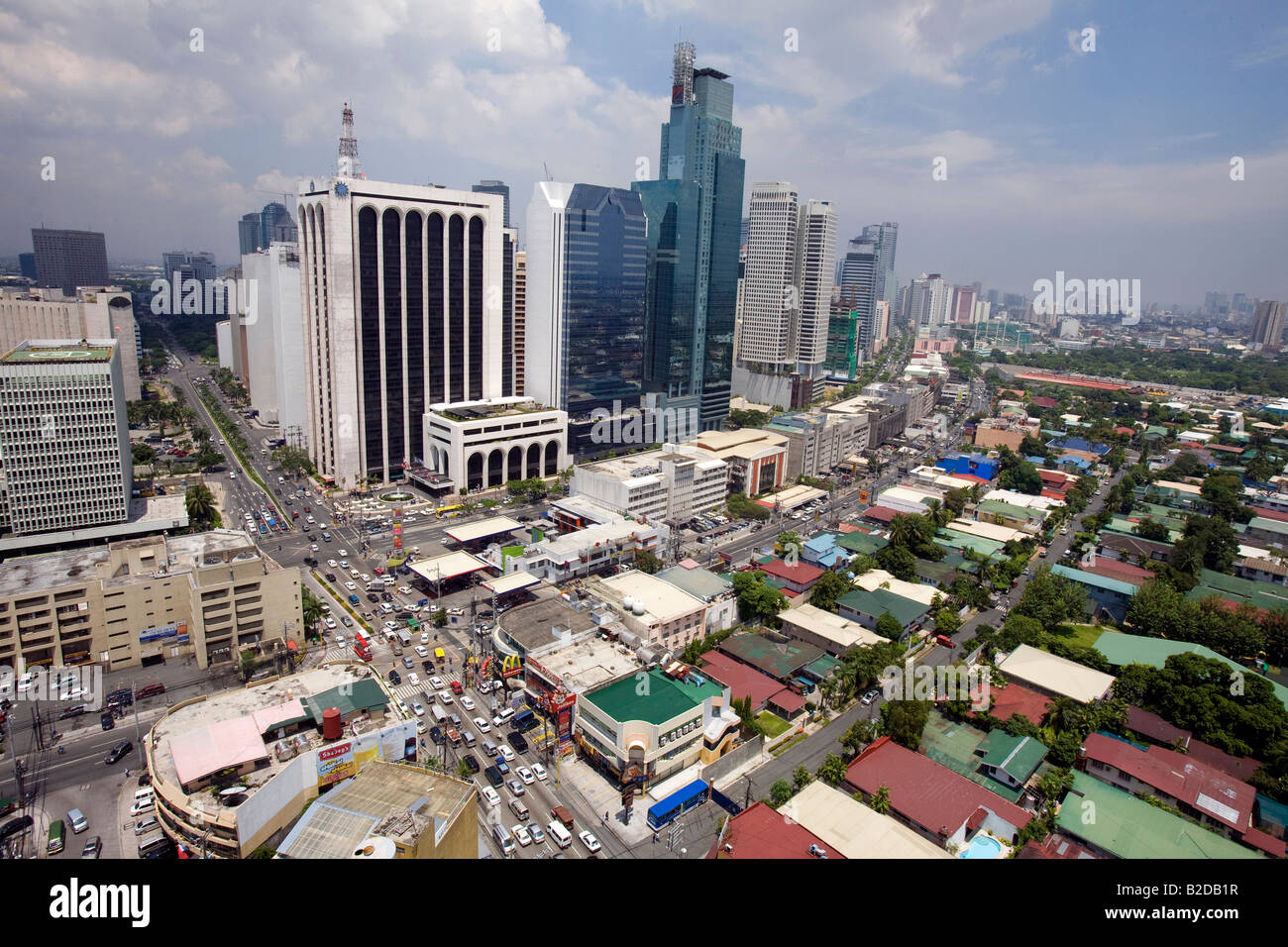 A view of Makati City, Metro Manila, Philippines. - Stock Image