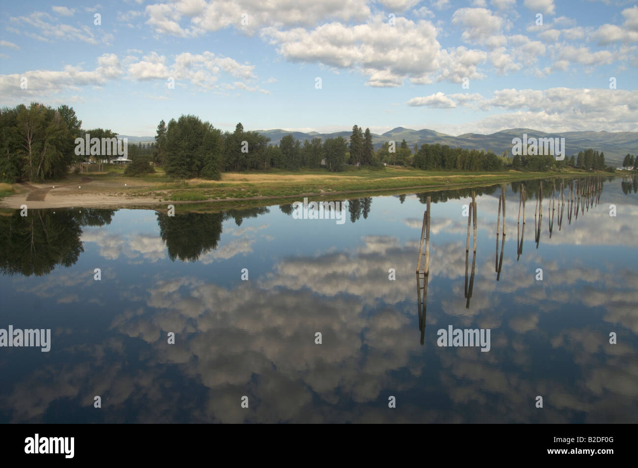Pend Oreille River Columbia Washington Idaho United States British Columbia There are five dams on the Pend Oreille - Stock Image
