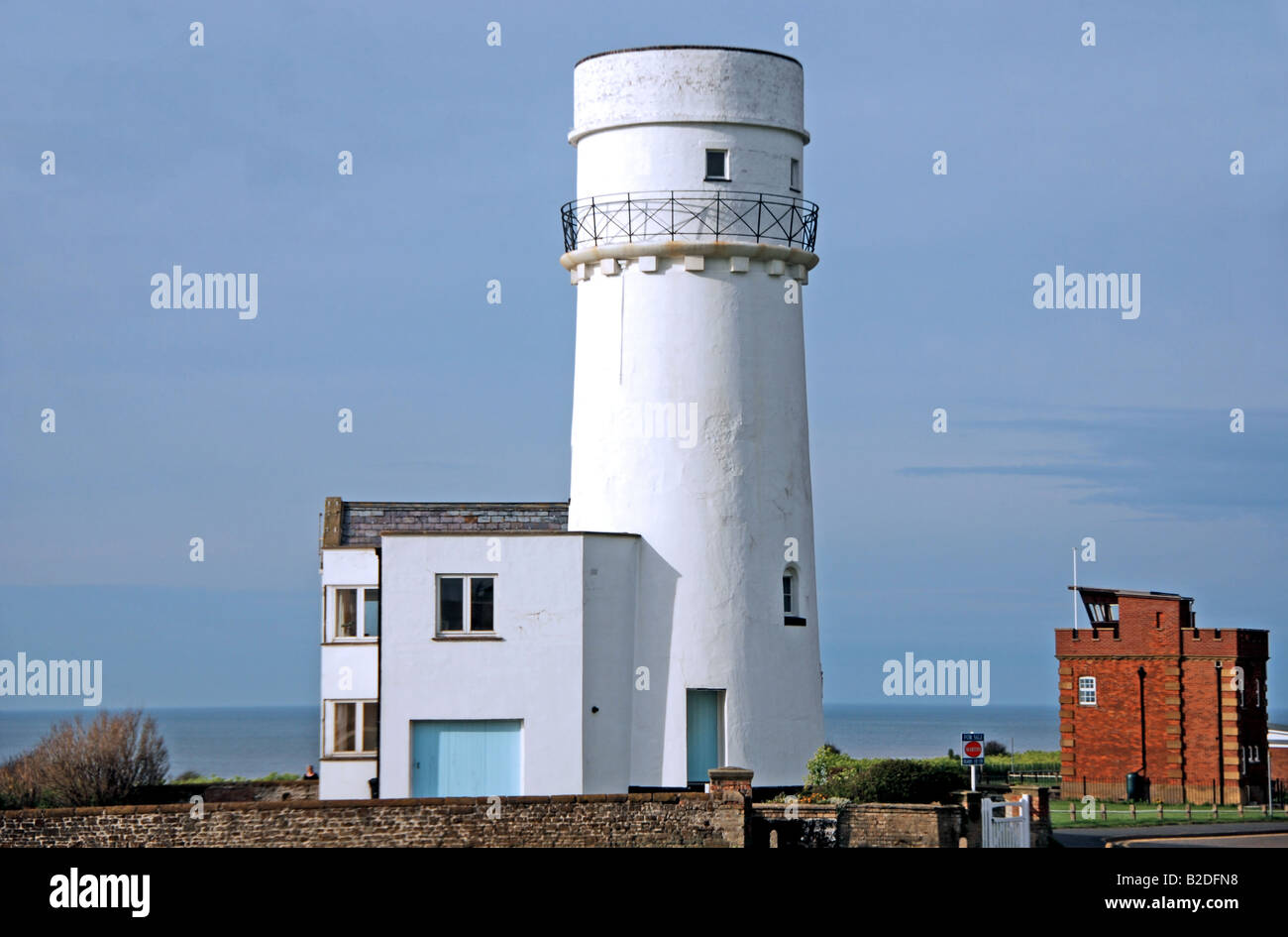 Converted Lighthouse at Hunstanton - Stock Image