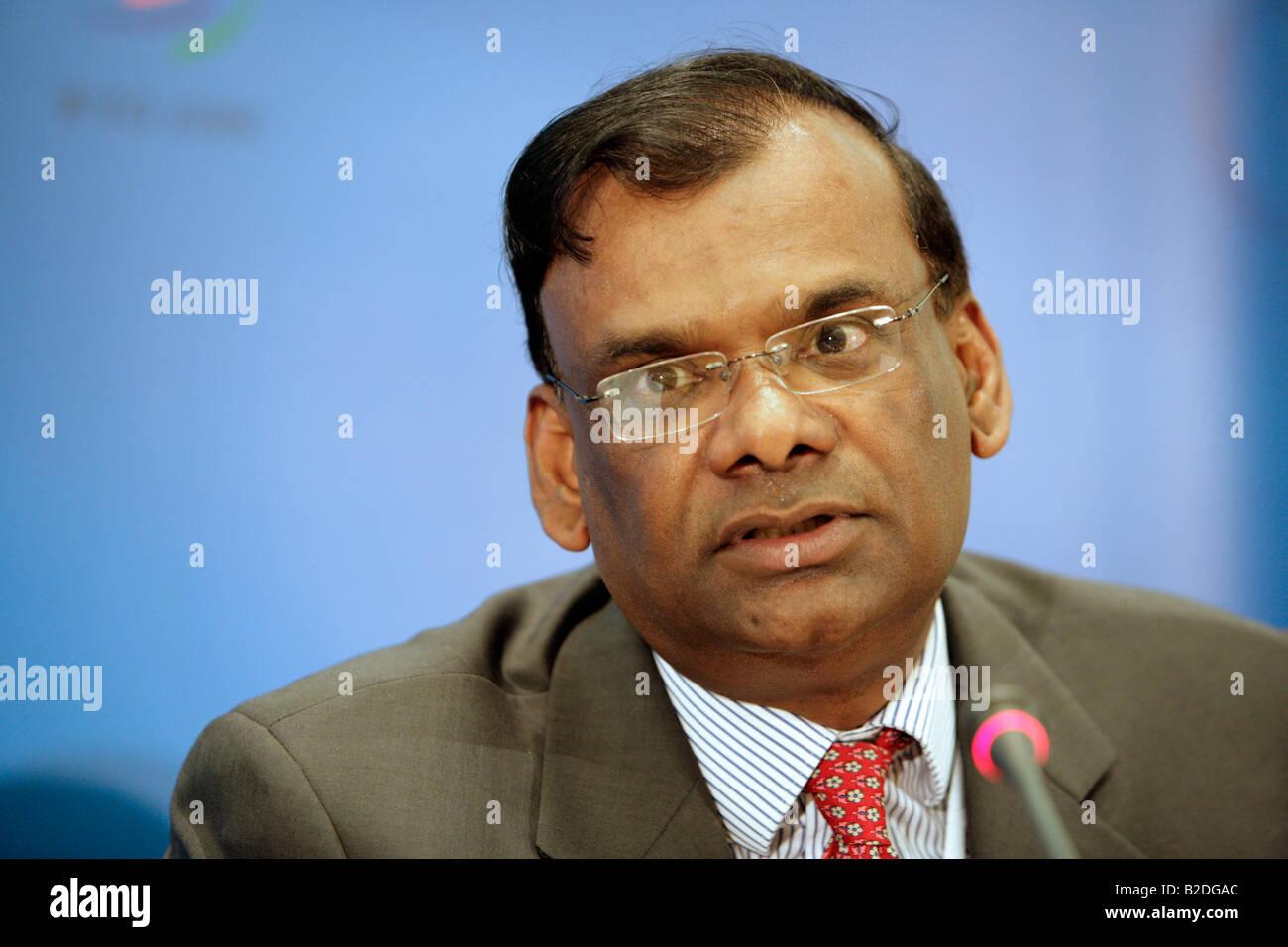 Ramakrishna Sithanen - Deputy Prime Minister,  Minister of Finance and Economic Development of Republic of Mauritius. - Stock Image