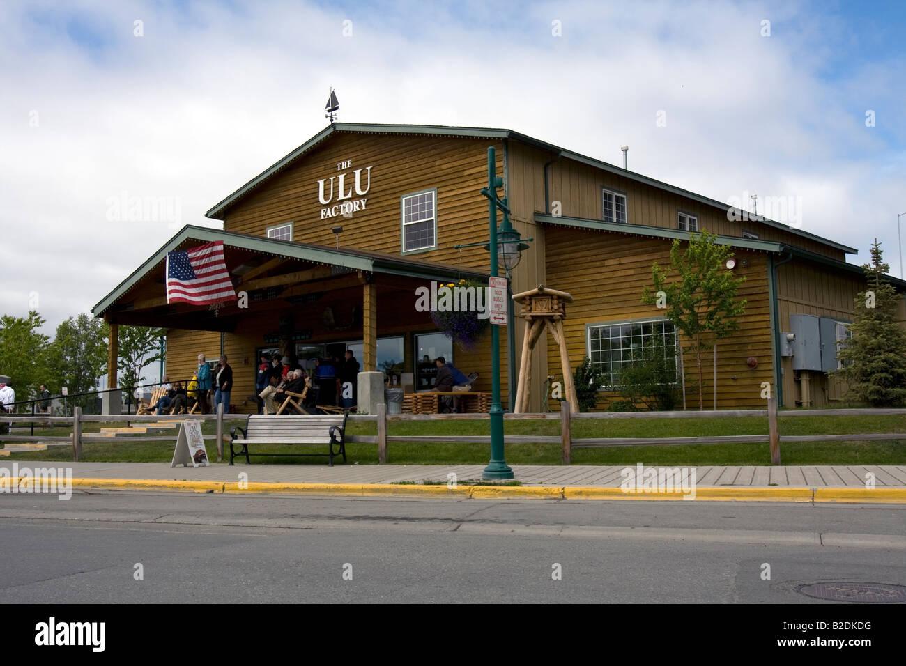 ULU factory Anchorage, Alaska. Stock Photo
