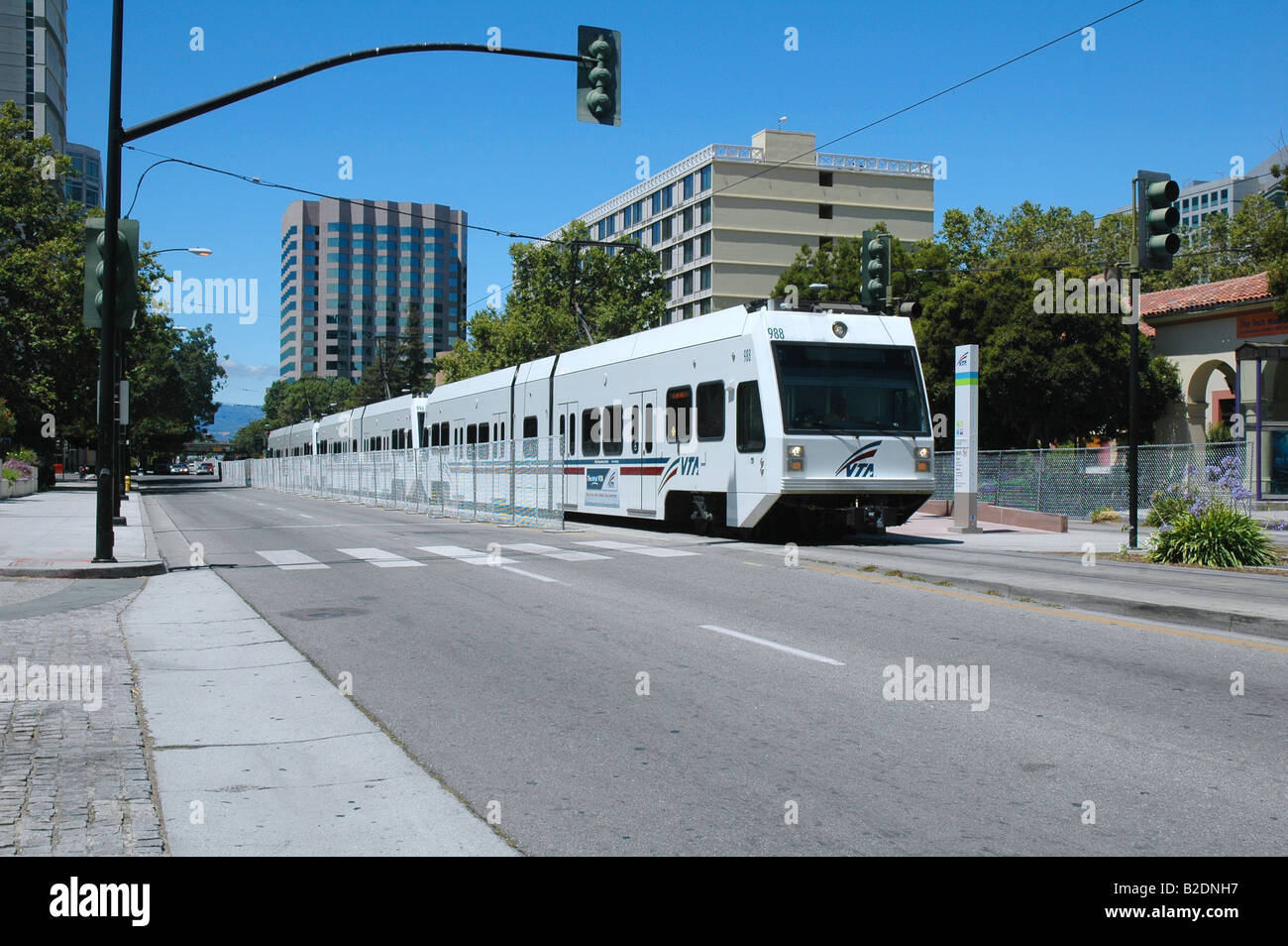 train station lightrail downtown san jose california Stock Photo ...