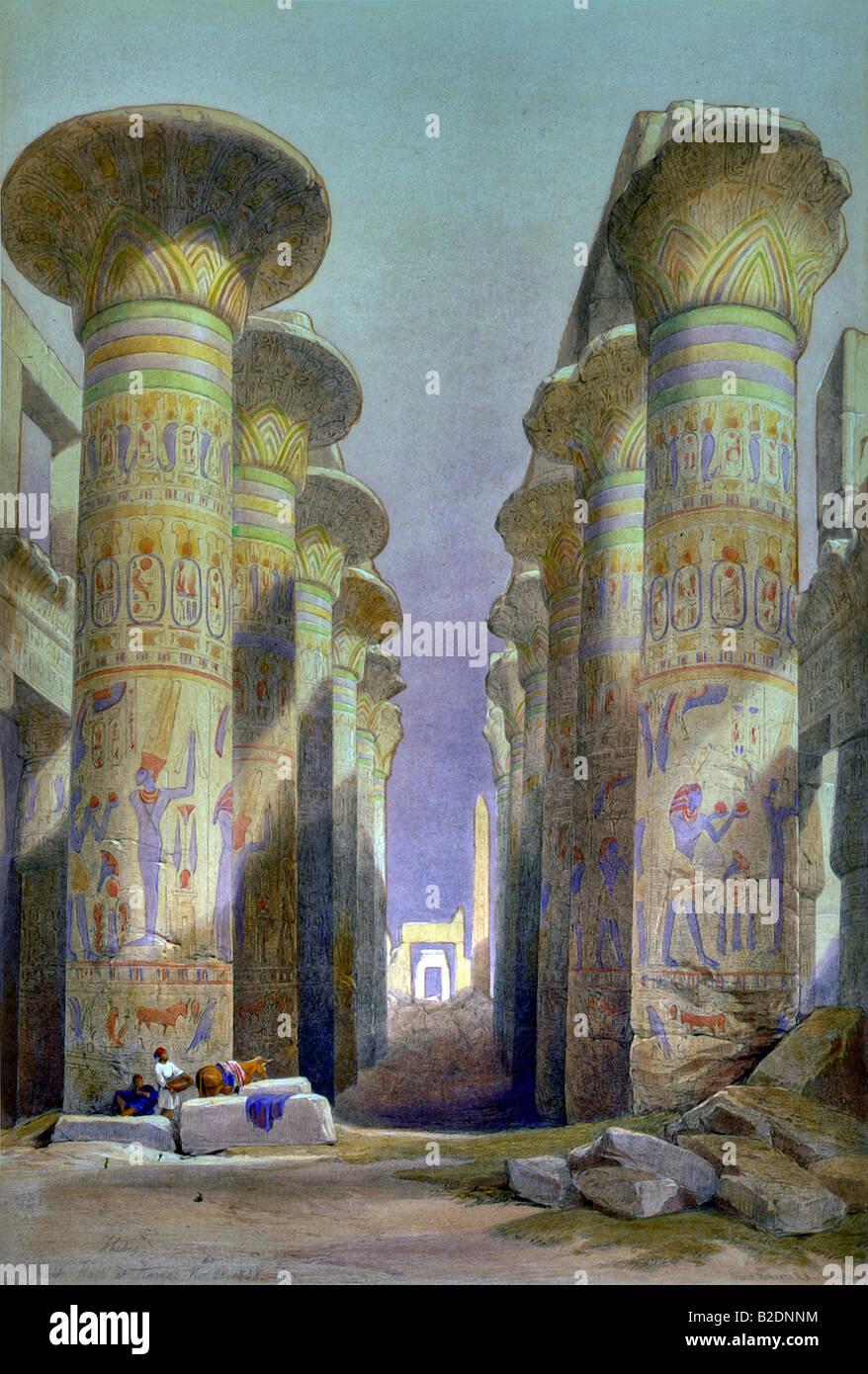 Great Hypostyle Hall, Karnak, Egypte - Stock Image
