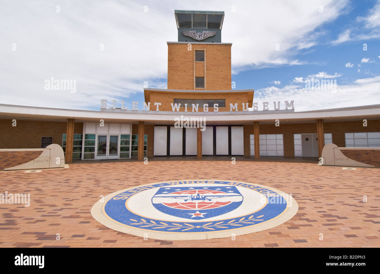 Texas Lubbock Silent Wings Museum dedicated to World War II glider operations - Stock Image
