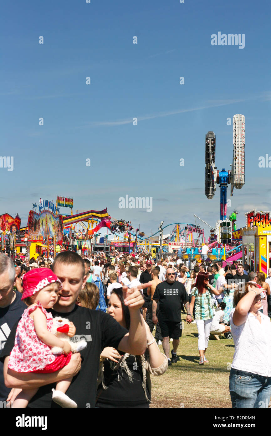 People enjoying a day out at the Wirral Show Liverpool UK 13th July 2008 - Stock Image