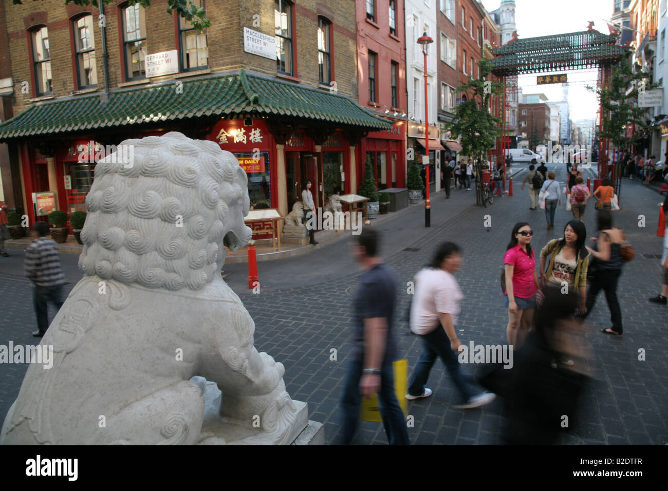 General view of Chinatown, central London - Stock Image