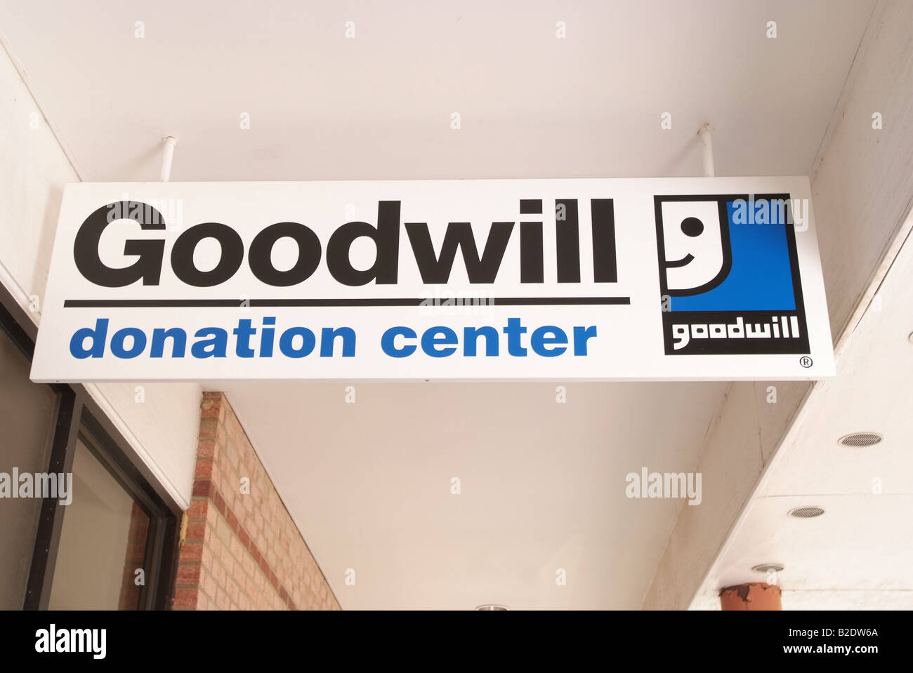 Goodwill industries donation collection center in Maryland - Stock Image