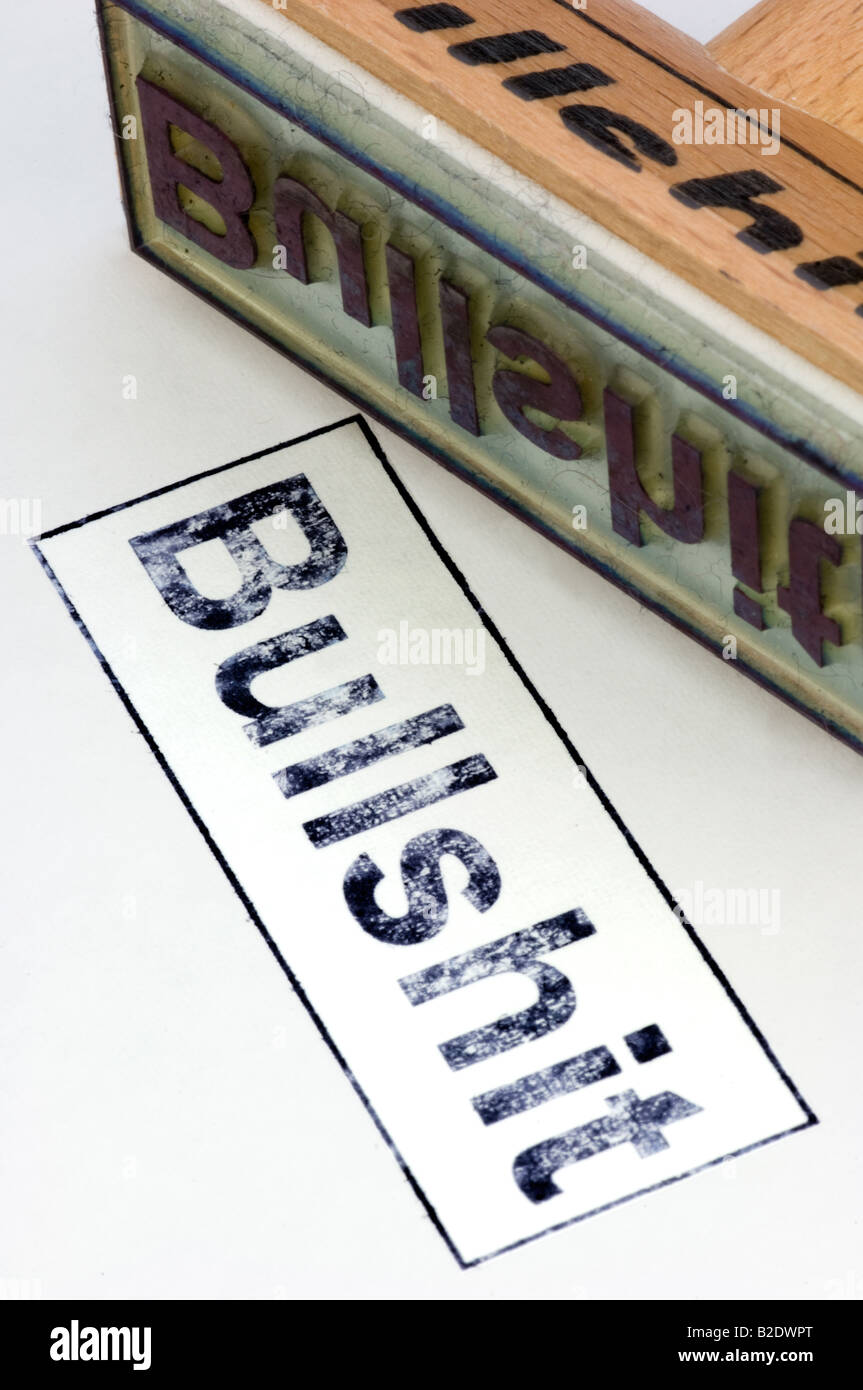 Stamp Bullshit Stock Photo