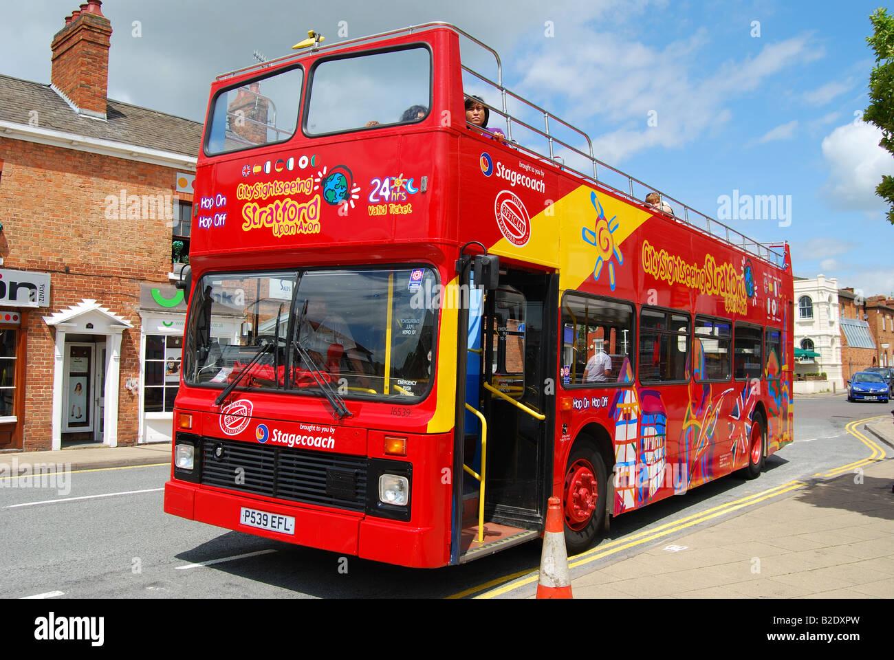 Tourist Sightseeing Bus Windsor Street Stratford Upon Avon Warwickshire England