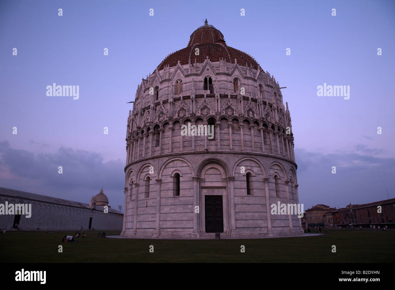 The Baptistry , Field of Miracles , Pisa , Italy - Stock Image