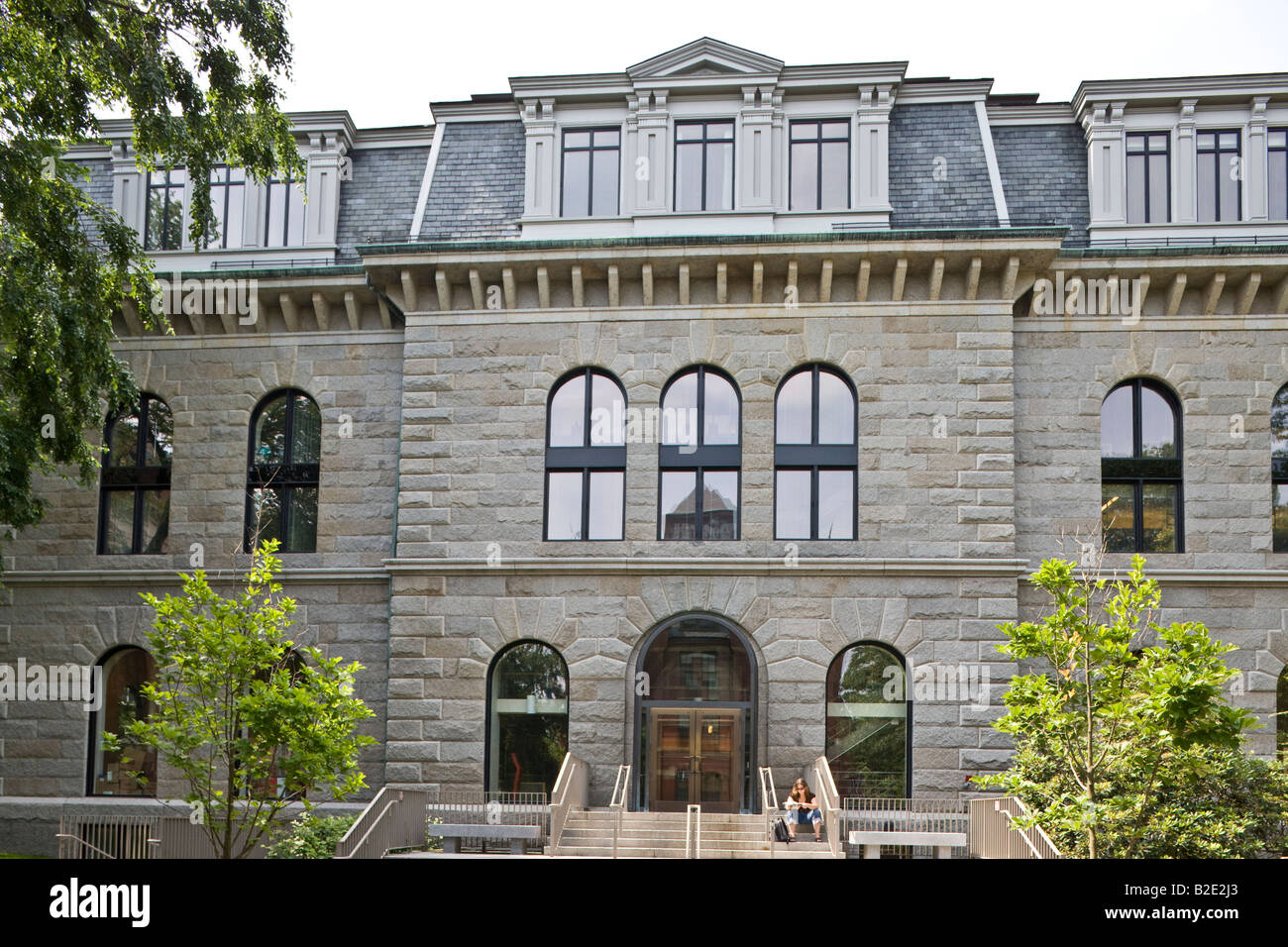Boylston Hall, Harvard University, Cambridge, Massachusetts, USA - Stock Image