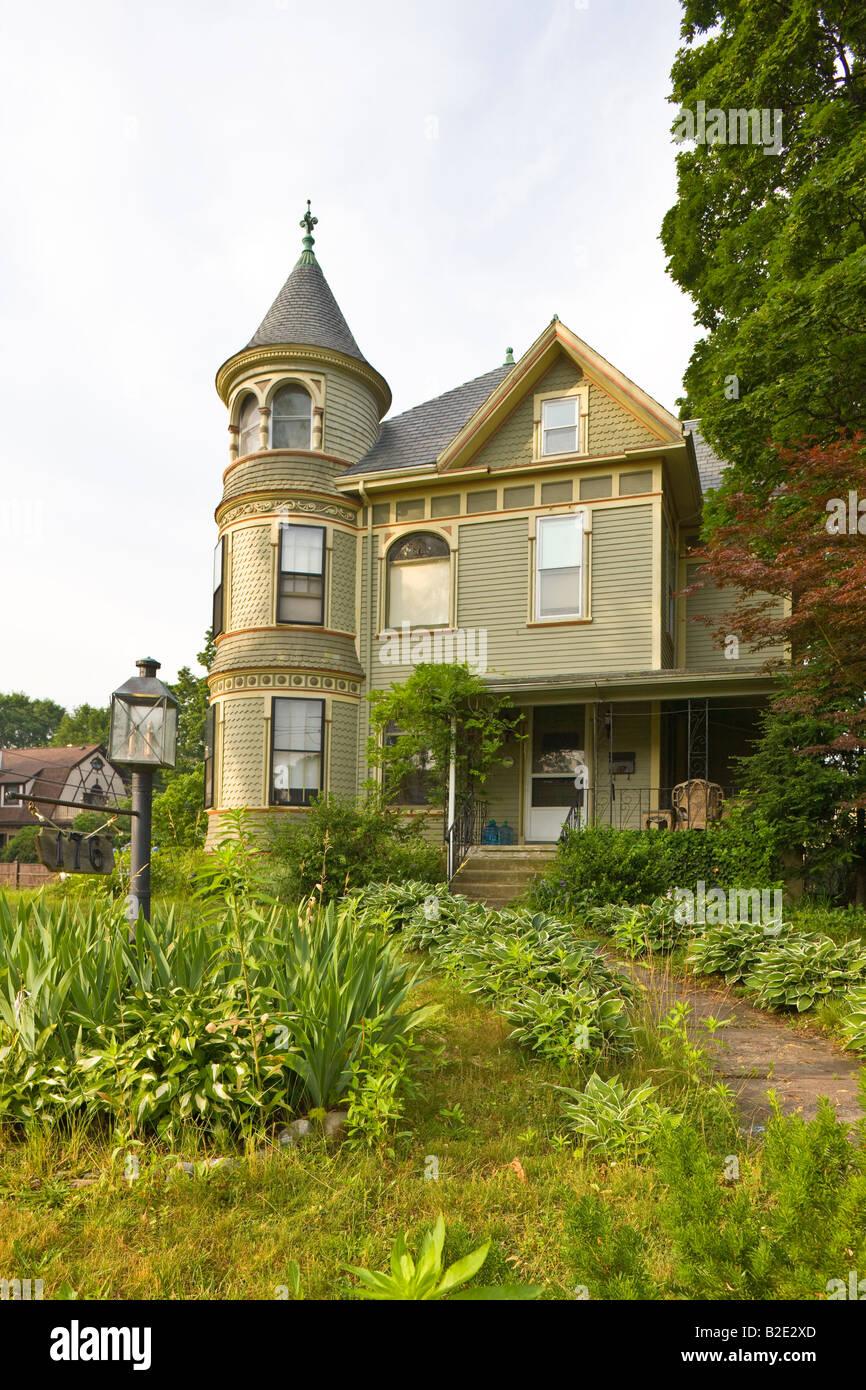 stylish old house, Watertown, Massachussetts, USA - Stock Image