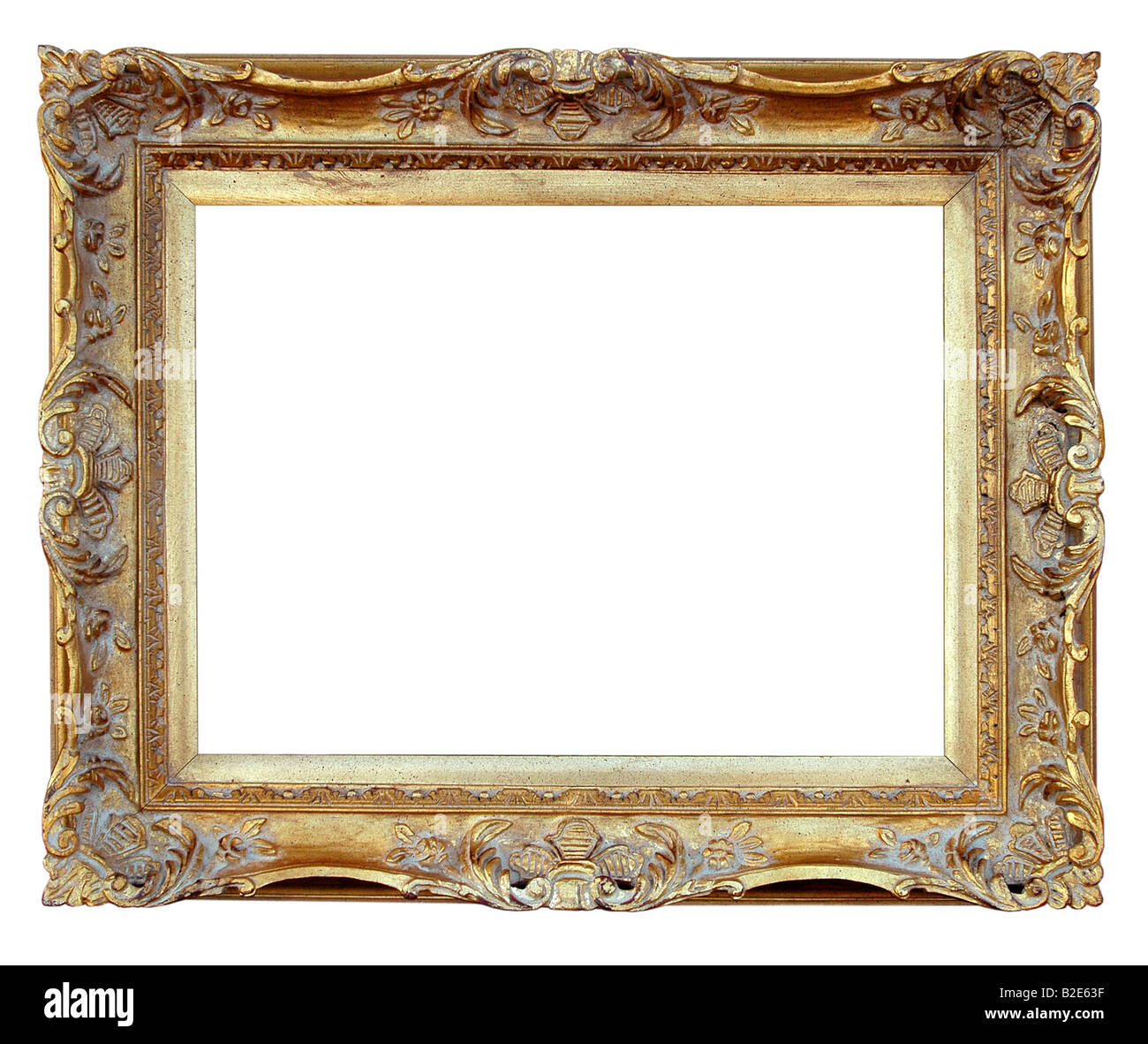Vintage Frame over white background - Stock Image