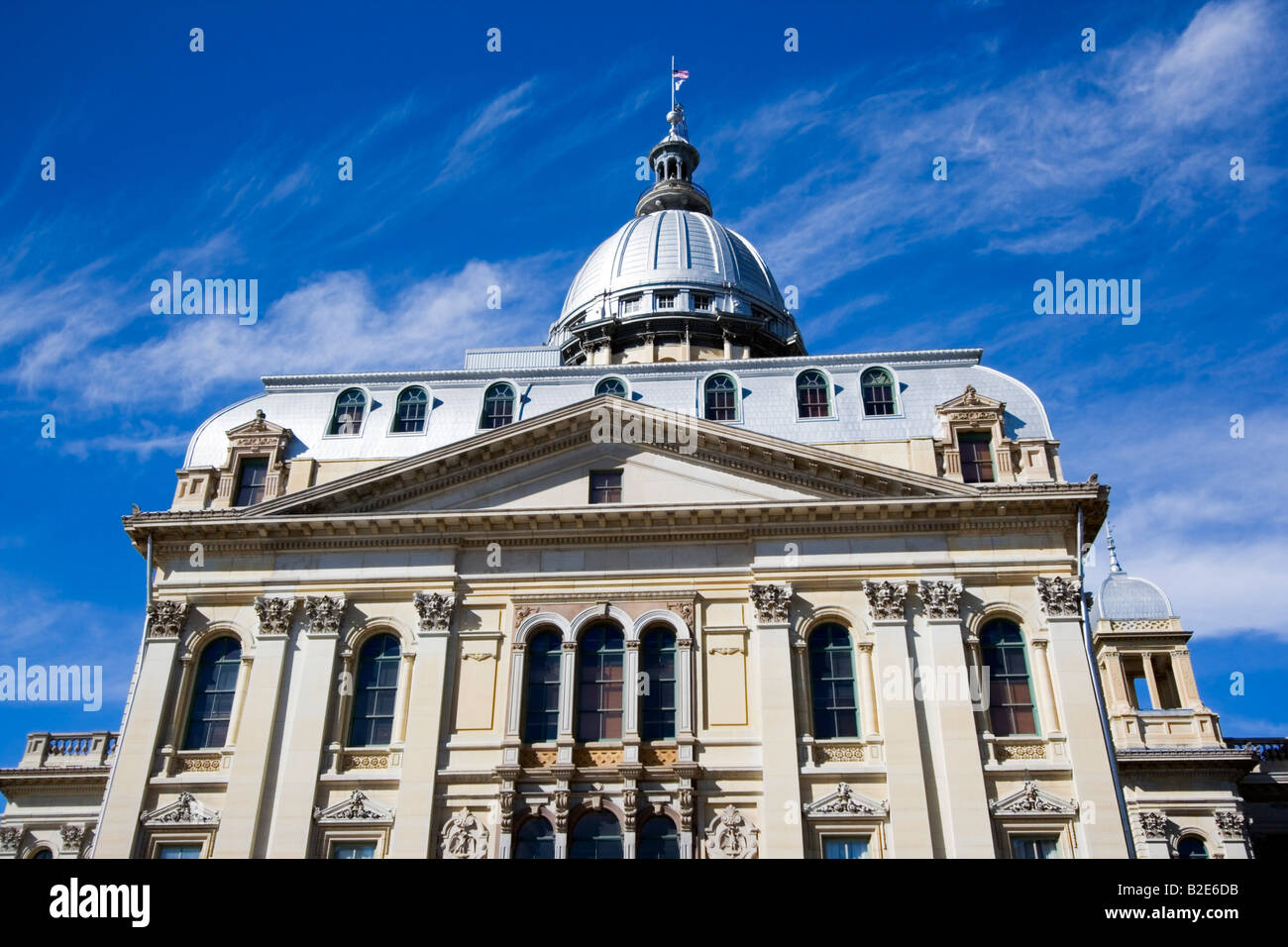 State Capitol of Illinois in Springfield - Stock Image