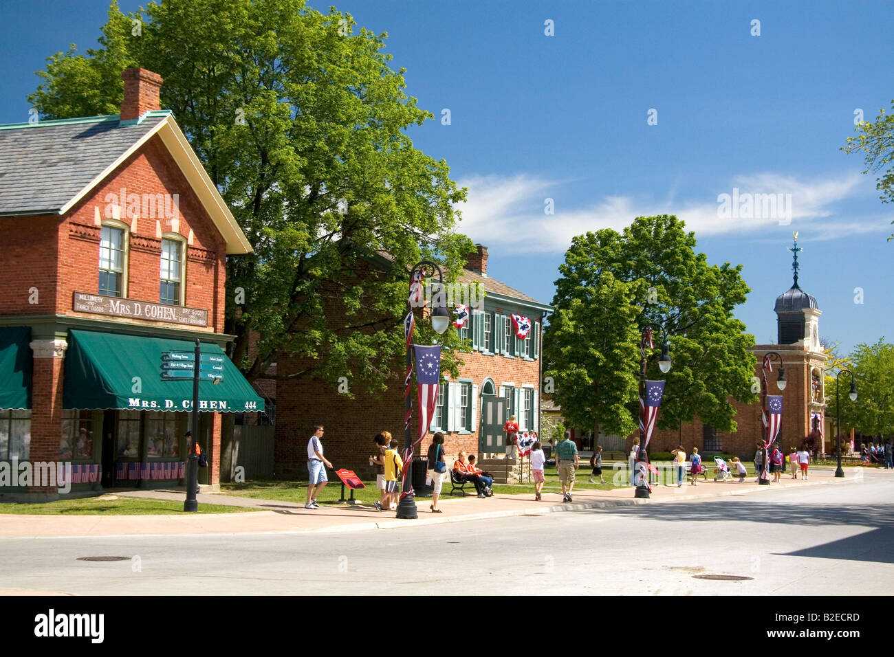 Historic buildings in Greenfield Village at The Henry Ford in Dearborn Michigan - Stock Image