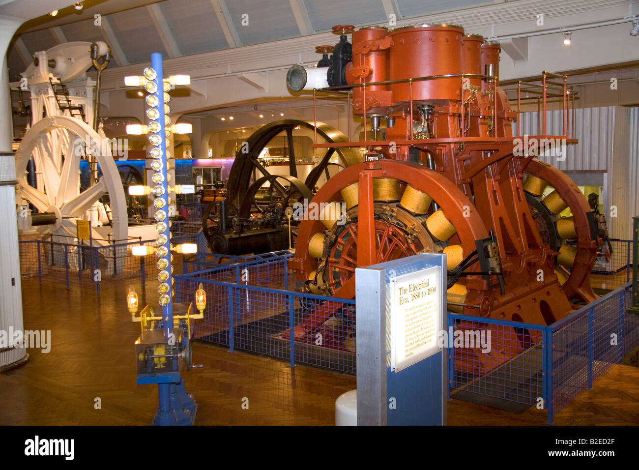History of industrial electricity use and generation in America at the Henry Ford Museum at Dearborn Michigan - Stock Image