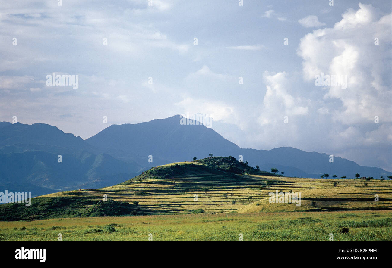 Ethiopia is a land of vast horizons and dramatic scenery. - Stock Image