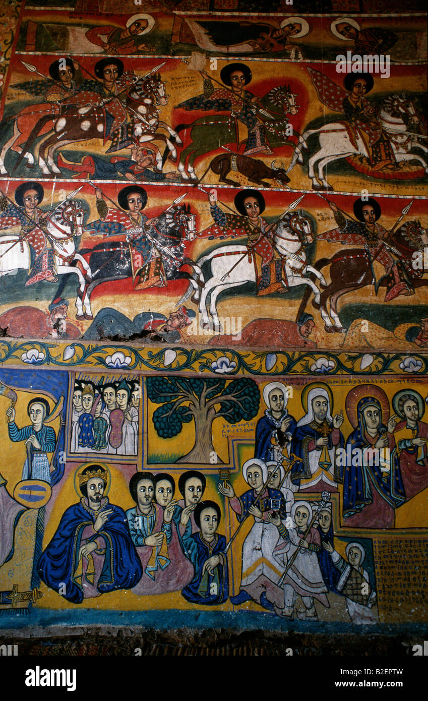 Ura Kidane Meret Church boasts some of the finest 16th century murals. - Stock Image