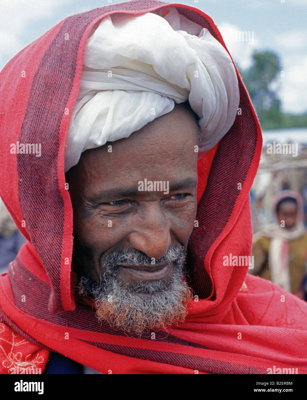 A Moslem man at the weekly Bati market -situated on top of the western scarp of the Abyssinian Rift. - Stock Image