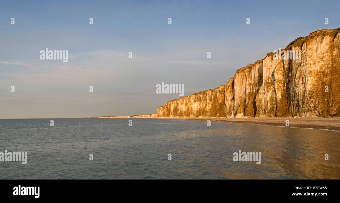 normandy cliffs in st valery en caux - Stock Image