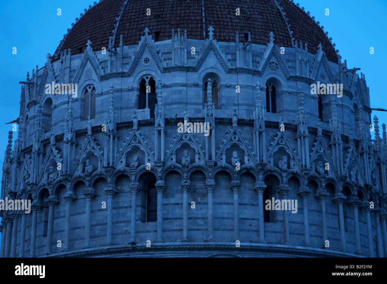 The Baptistry , Field of Miracles , Pisa , Italy Stock Photo