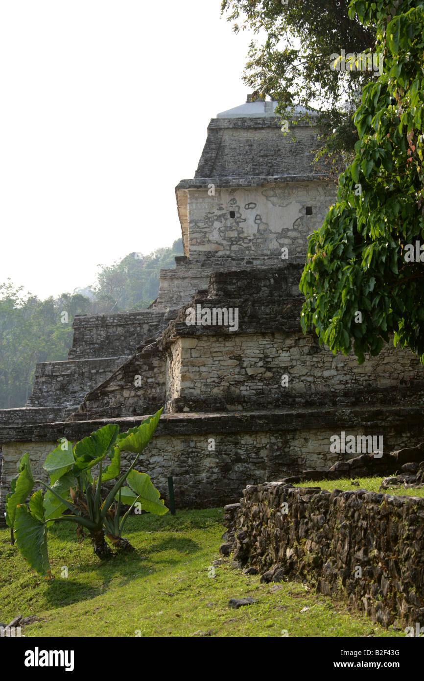 Temple XIII, Palenque Archeological Site, Chiapas State, Mexico Stock Photo