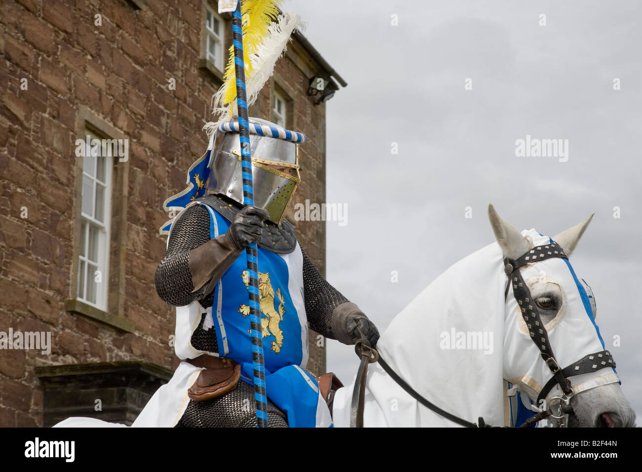 Costumed Performers _ Scottish Historical Saltaire Society, Fort George Ardersier Grampian Scotland uk - Stock Image