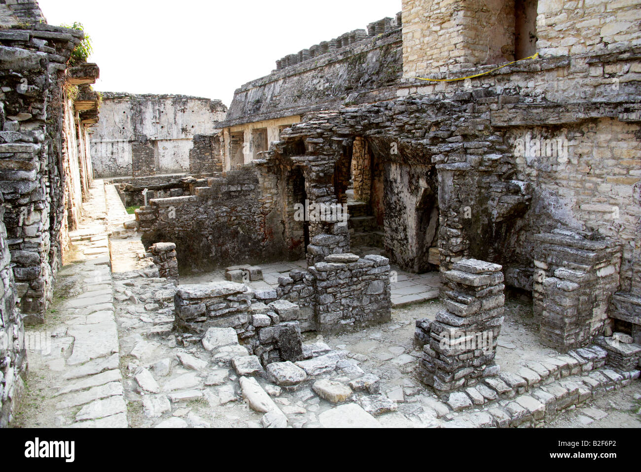 The Palace, Palenque Archeological Site, Chiapas State, Mexico Stock Photo