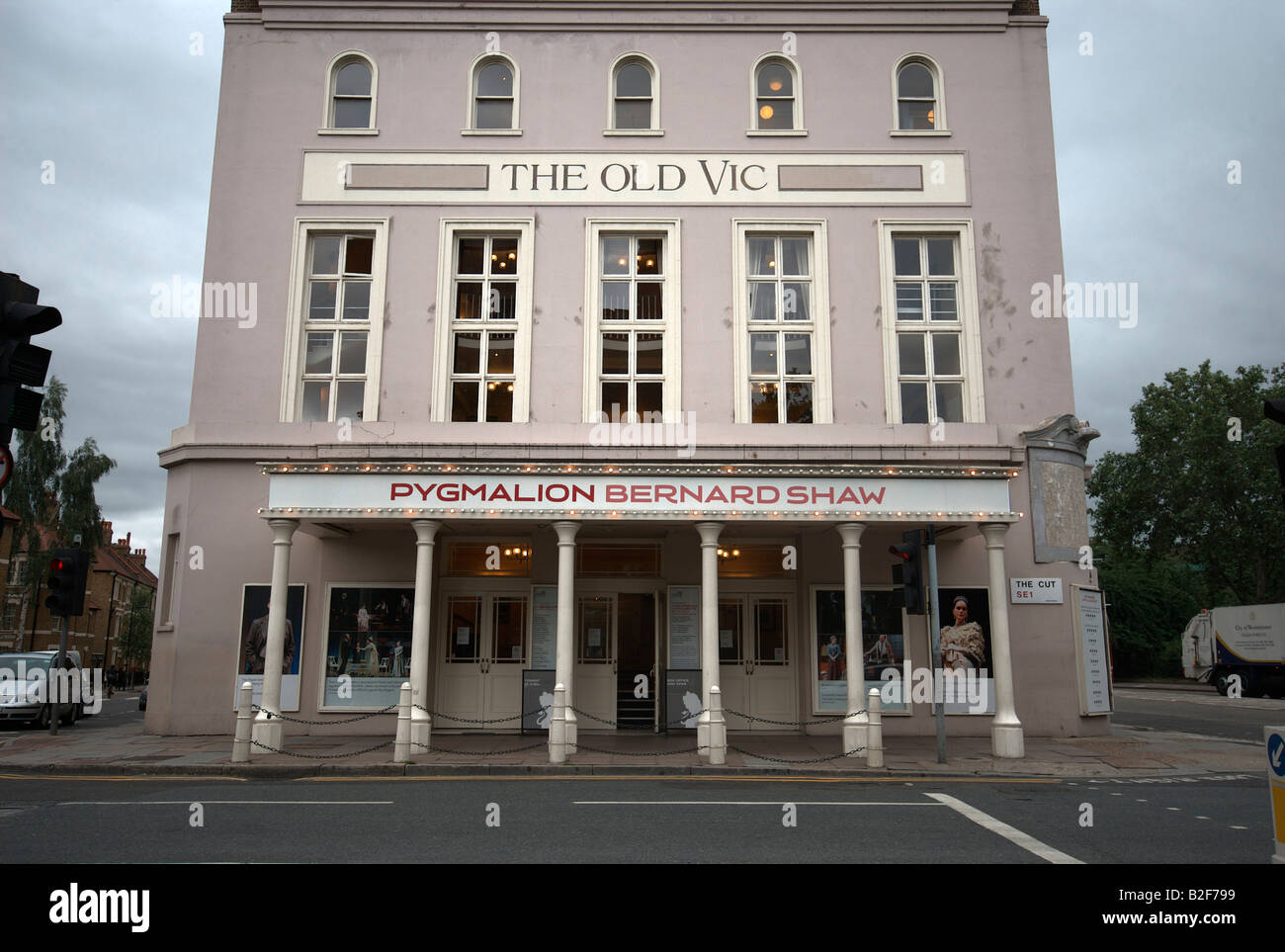 The Old Vic theatre in London. - Stock Image