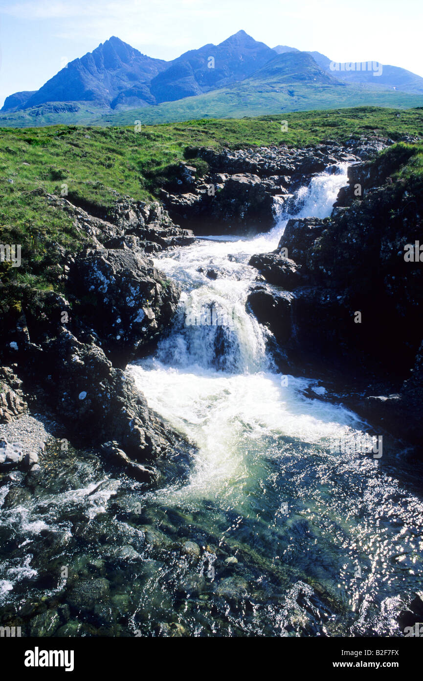 Black Cuillin Hills Mountains Isle Of Skye Scotland Uk