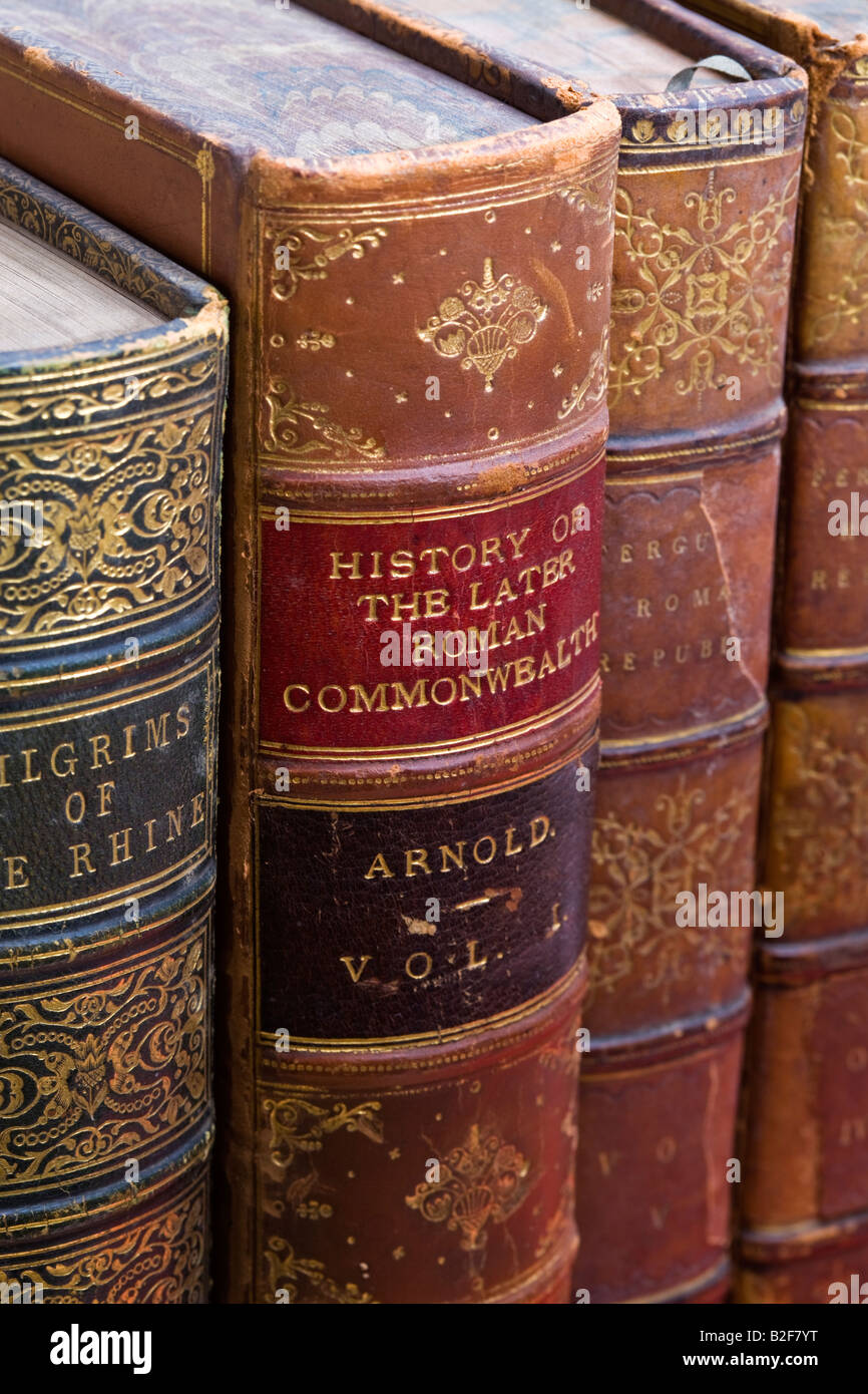 Antique books - Stock Image