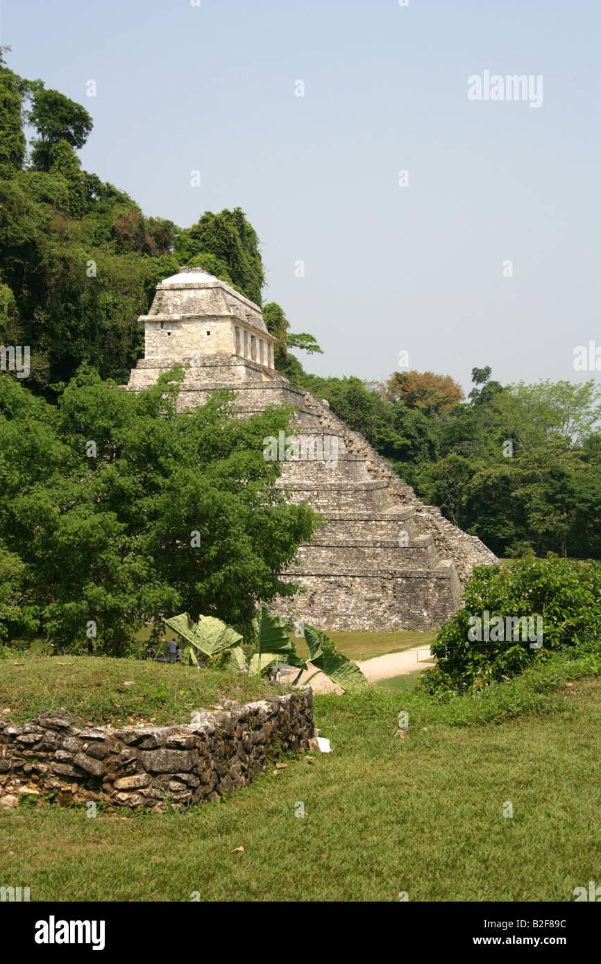 Temple of Inscriptions, Palenque Archealogical Site, Chiapas State, Mexico Stock Photo