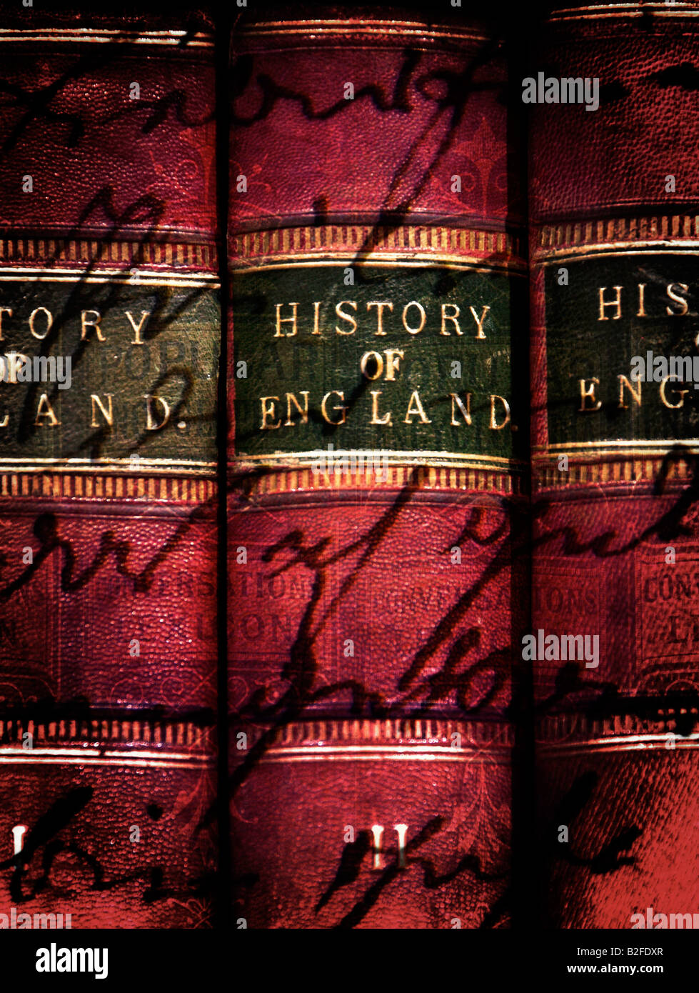 Old Vintage Books History of England 3 Volumes - Stock Image
