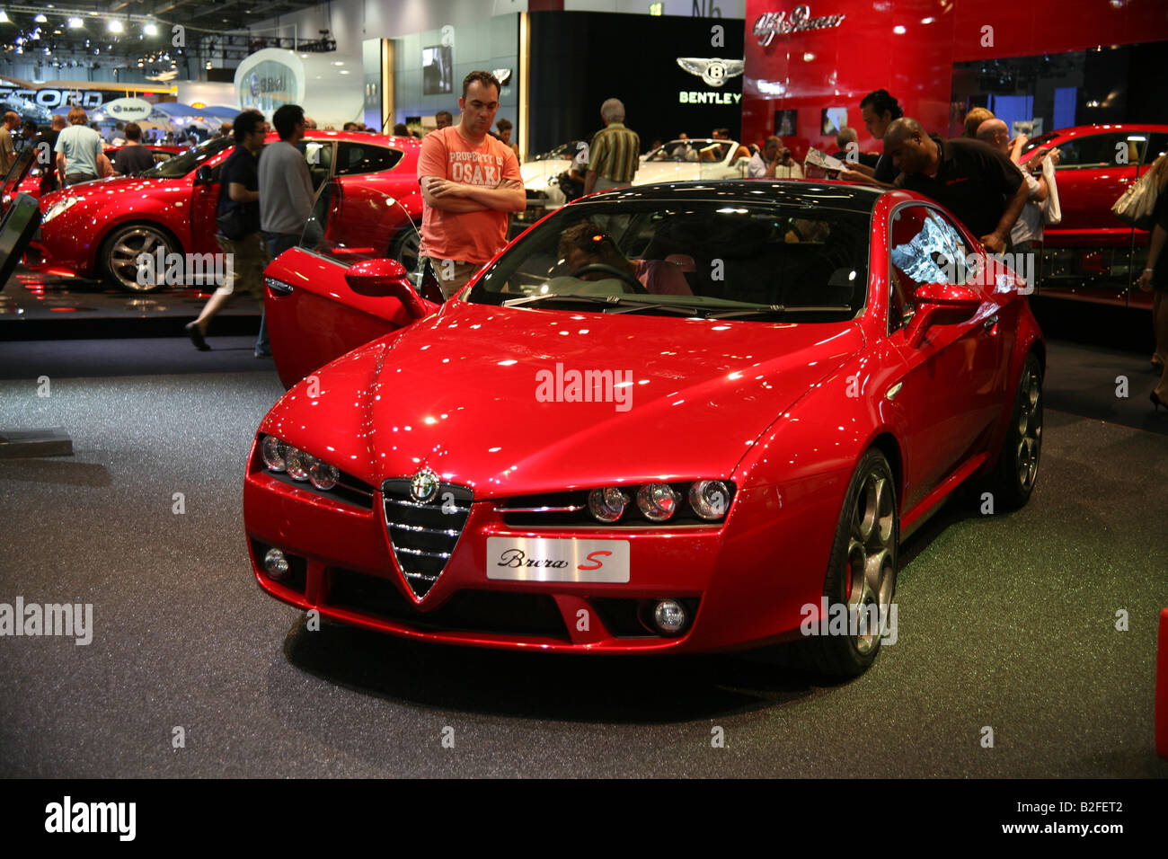 Alfa Romeo Brera S Prodrive At The British Motor Show Stock Photo Alamy