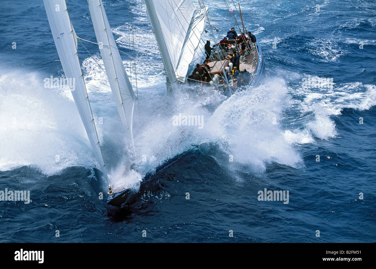 Image result for classic j sailboat in waves