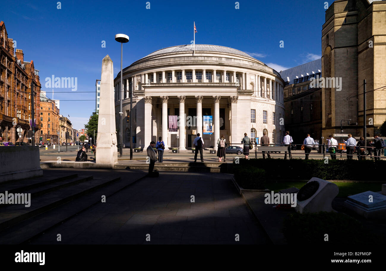 Central Library Manchester England - Stock Image