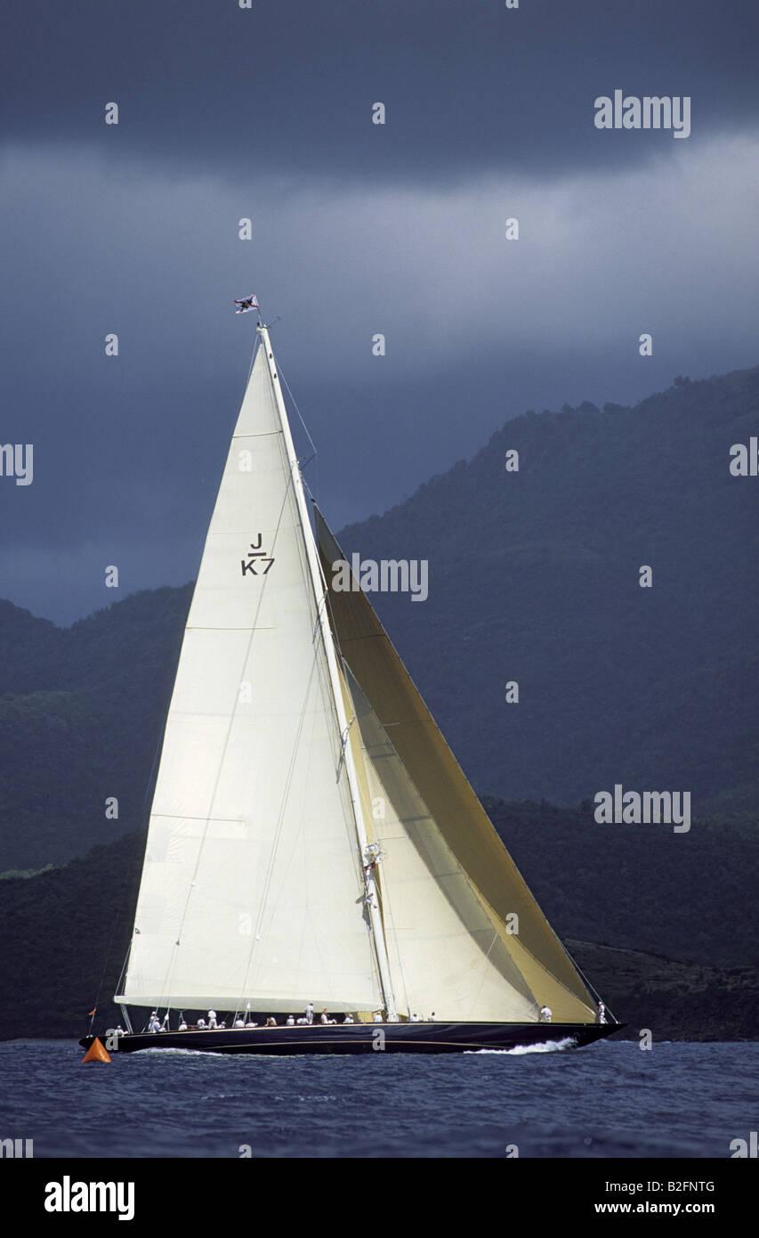 Classic sailing yacht Stock Photo