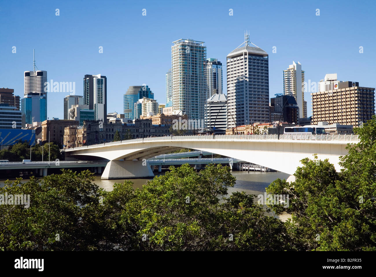 Bribane city - Brisbane, Queensland, AUSTRALIA - Stock Image